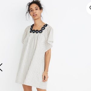 NEW Madewell Embroidered Butterfly Dress in Stripe